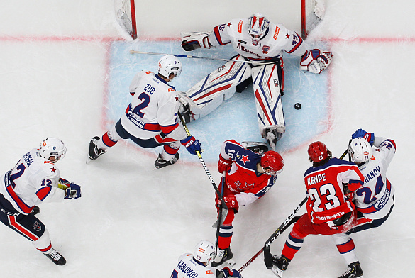 CSKA beat SKA and and strengthened their leadership