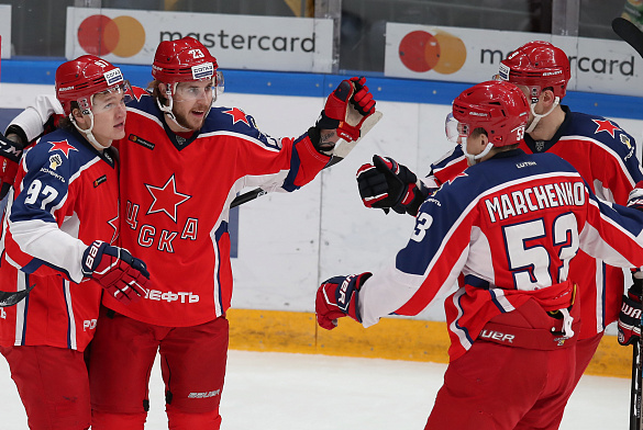Kaprizov scores twice as CSKA wins second in a row